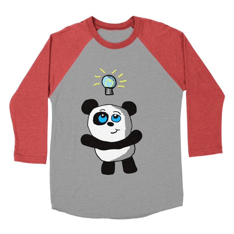 Lightbulb Panda Men's Baseball Triblend T-Shirt by ericallen's Artist Shop