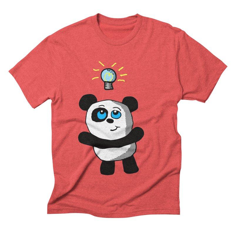 Lightbulb Panda Men's Triblend T-shirt by ericallen's Artist Shop