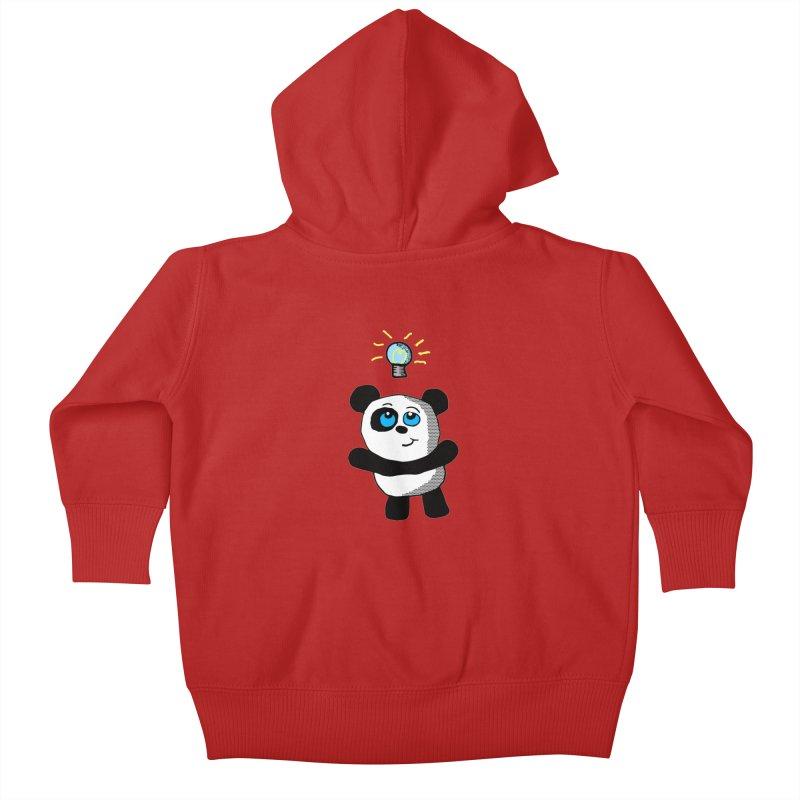 Lightbulb Panda Kids Baby Zip-Up Hoody by ericallen's Artist Shop