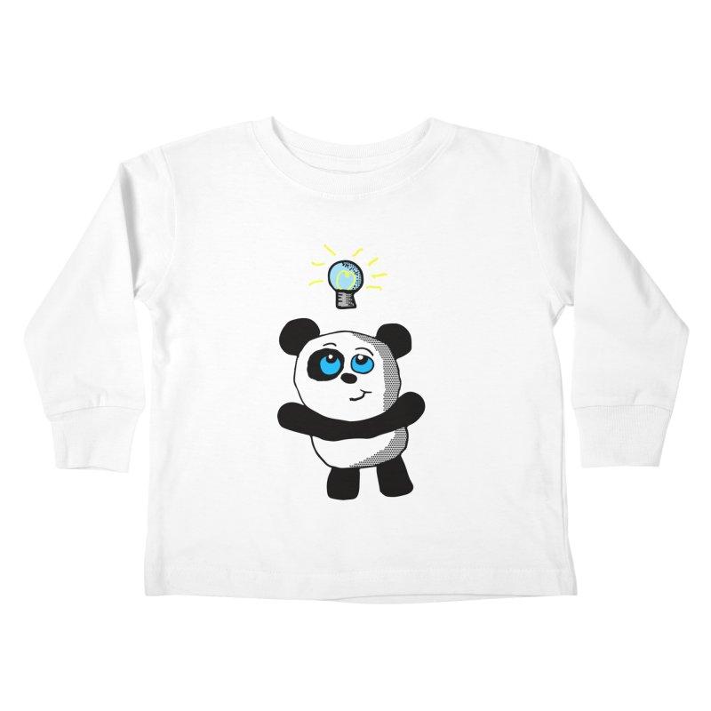 Lightbulb Panda Kids Toddler Longsleeve T-Shirt by ericallen's Artist Shop