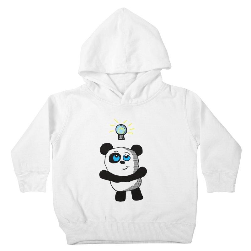 Lightbulb Panda Kids Toddler Pullover Hoody by ericallen's Artist Shop