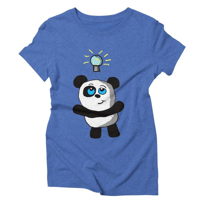 Lightbulb Panda Women's Triblend T-shirt by ericallen's Artist Shop