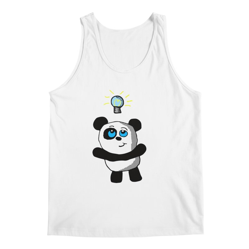 Lightbulb Panda Men's Tank by ericallen's Artist Shop