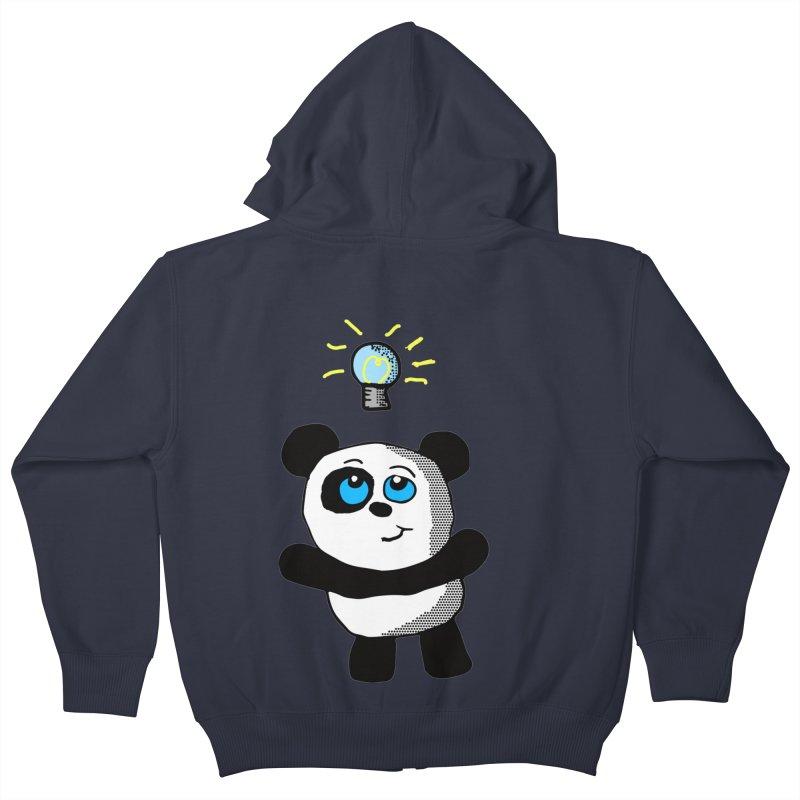 Lightbulb Panda Kids Zip-Up Hoody by ericallen's Artist Shop