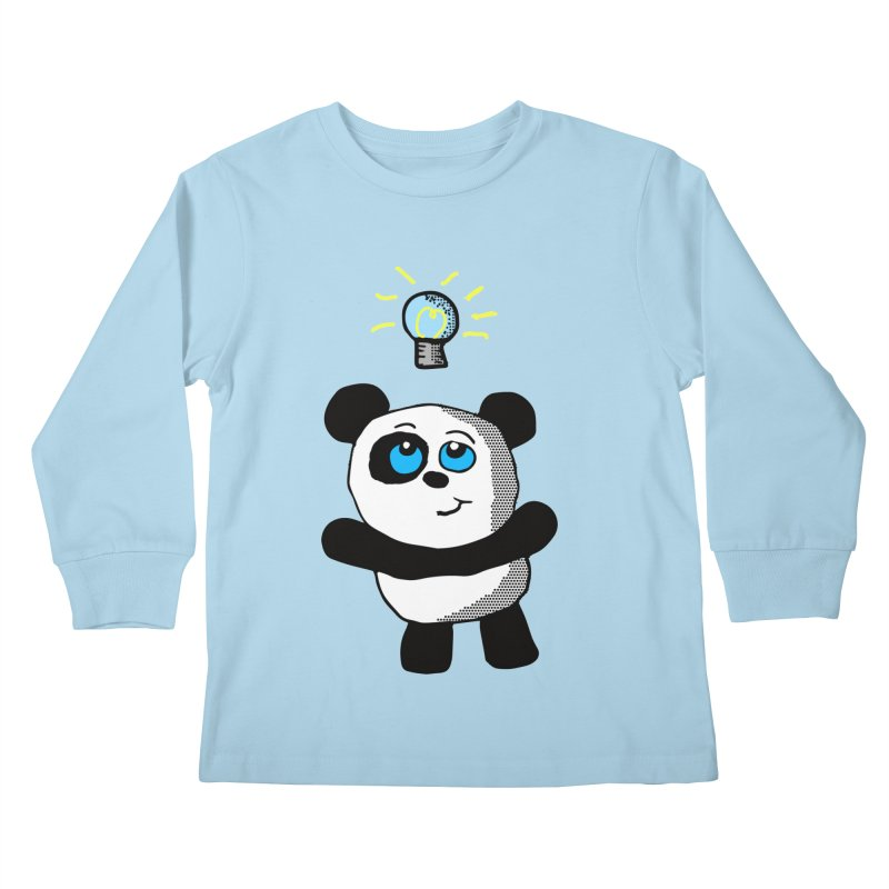 Lightbulb Panda Kids Longsleeve T-Shirt by ericallen's Artist Shop