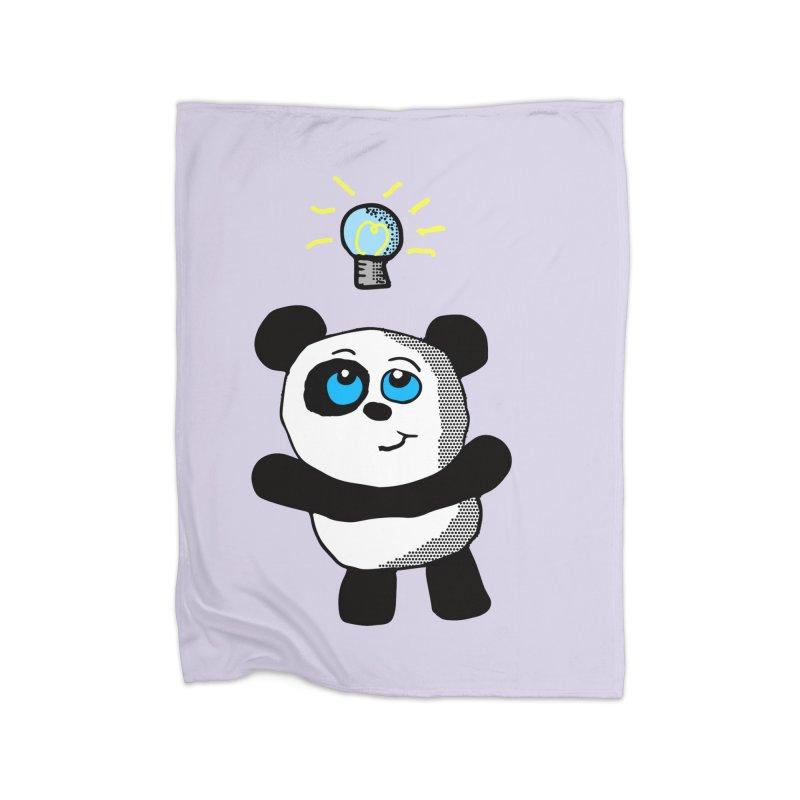 Lightbulb Panda Home Blanket by ericallen's Artist Shop