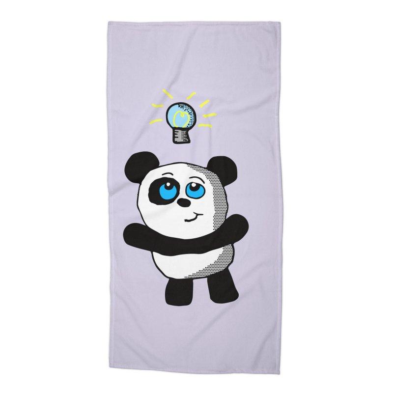 Lightbulb Panda Accessories Beach Towel by ericallen's Artist Shop