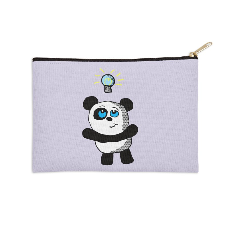 Lightbulb Panda Accessories Zip Pouch by ericallen's Artist Shop