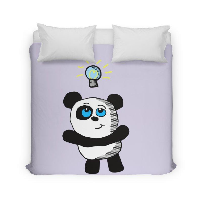Lightbulb Panda Home Duvet by ericallen's Artist Shop