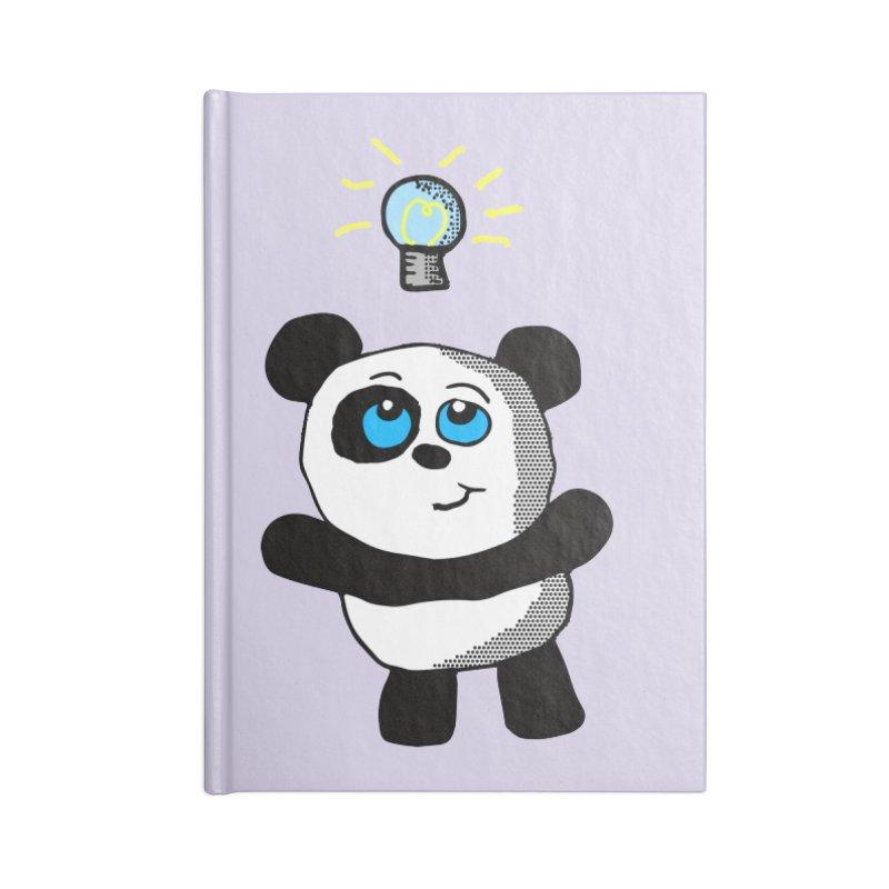 Lightbulb Panda Accessories Notebook by ericallen's Artist Shop