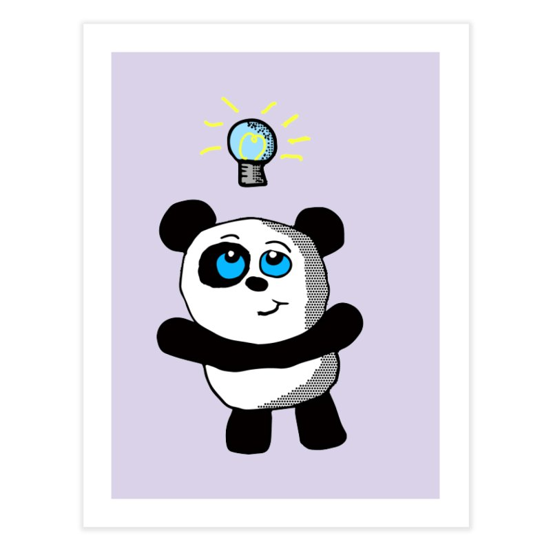 Lightbulb Panda Home Fine Art Print by ericallen's Artist Shop