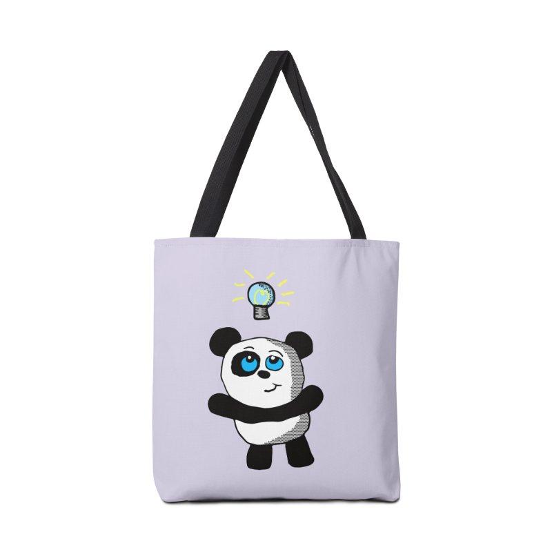 Lightbulb Panda Accessories Bag by ericallen's Artist Shop