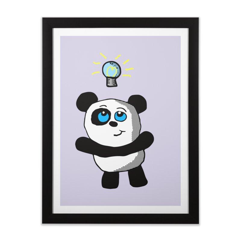 Lightbulb Panda Home Framed Fine Art Print by ericallen's Artist Shop