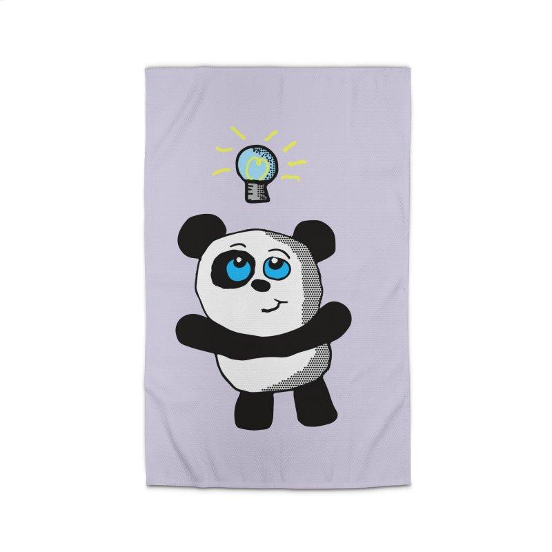 Lightbulb Panda Home Rug by ericallen's Artist Shop