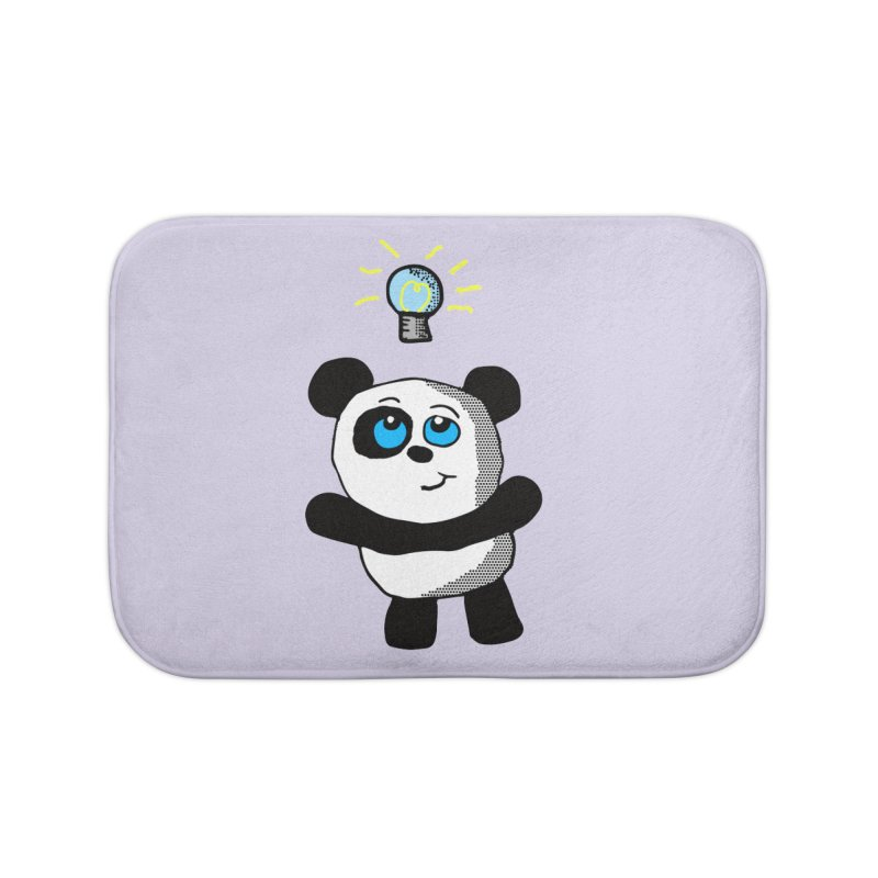 Lightbulb Panda Home Bath Mat by ericallen's Artist Shop