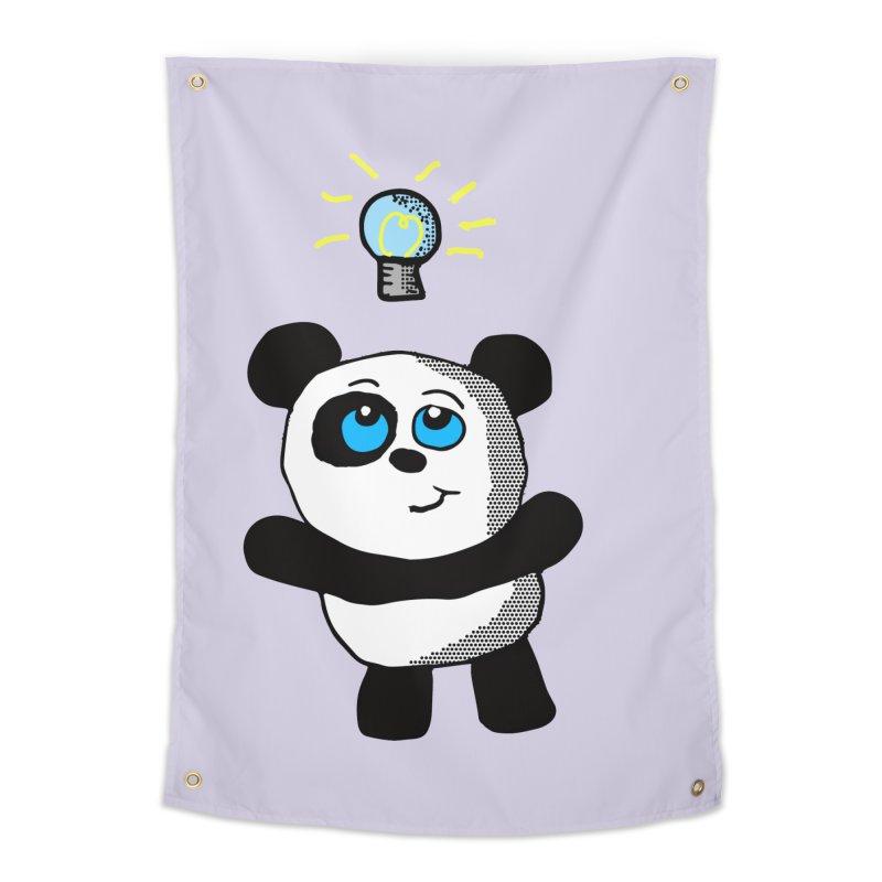 Lightbulb Panda Home Tapestry by ericallen's Artist Shop