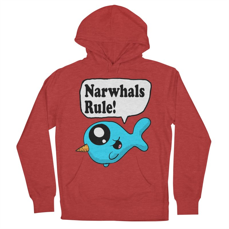 Narwhals Rule Men's Pullover Hoody by ericallen's Artist Shop