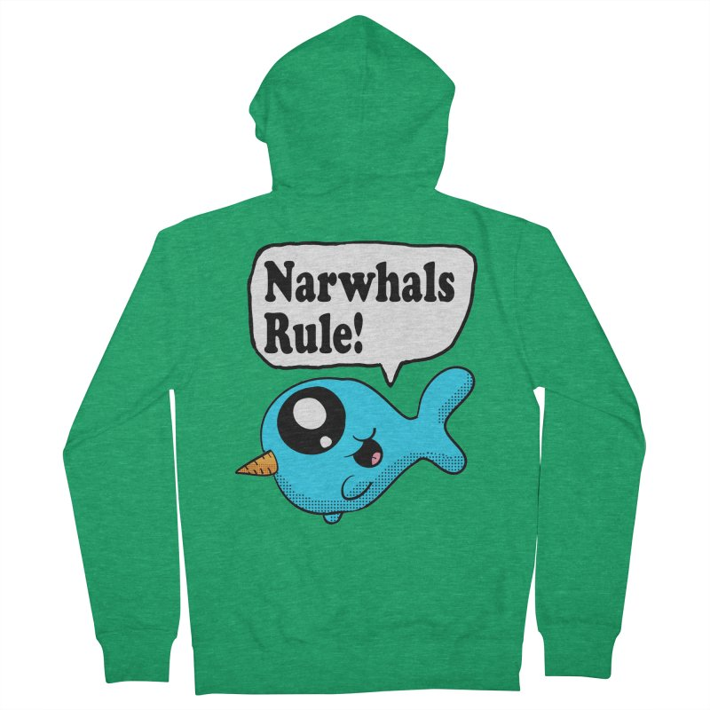 Narwhals Rule Women's Zip-Up Hoody by ericallen's Artist Shop