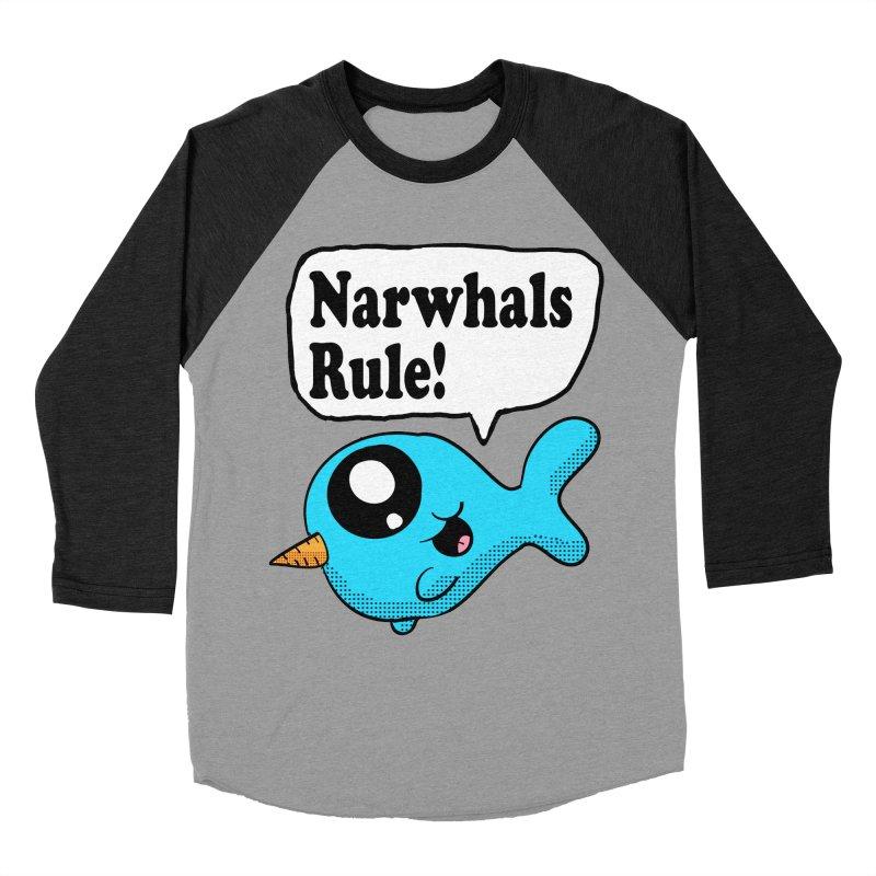 Narwhals Rule Women's Baseball Triblend T-Shirt by ericallen's Artist Shop