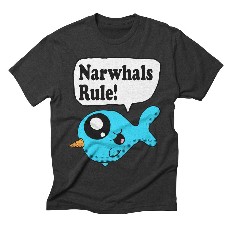 Narwhals Rule Men's Triblend T-shirt by ericallen's Artist Shop
