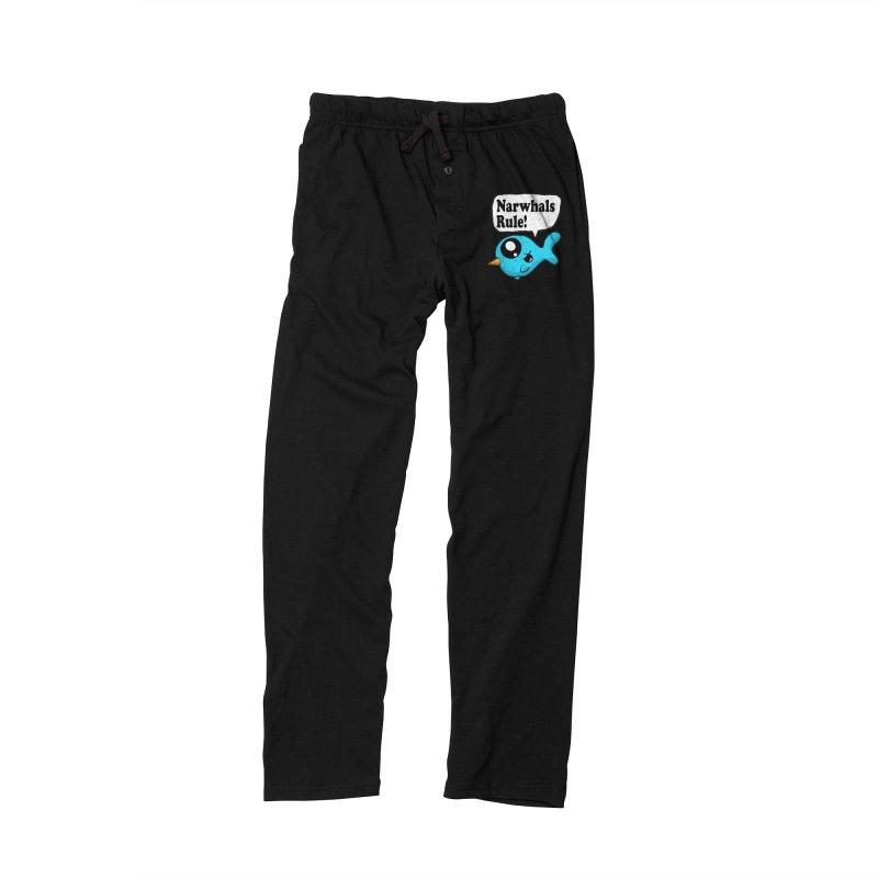 Narwhals Rule Men's Lounge Pants by ericallen's Artist Shop