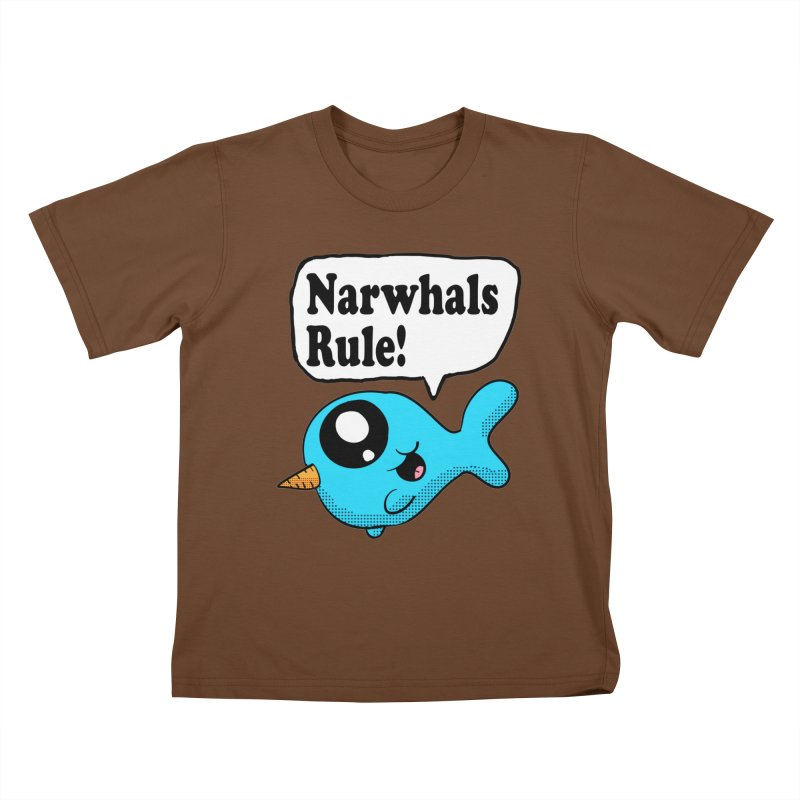 Narwhals Rule Kids T-shirt by ericallen's Artist Shop