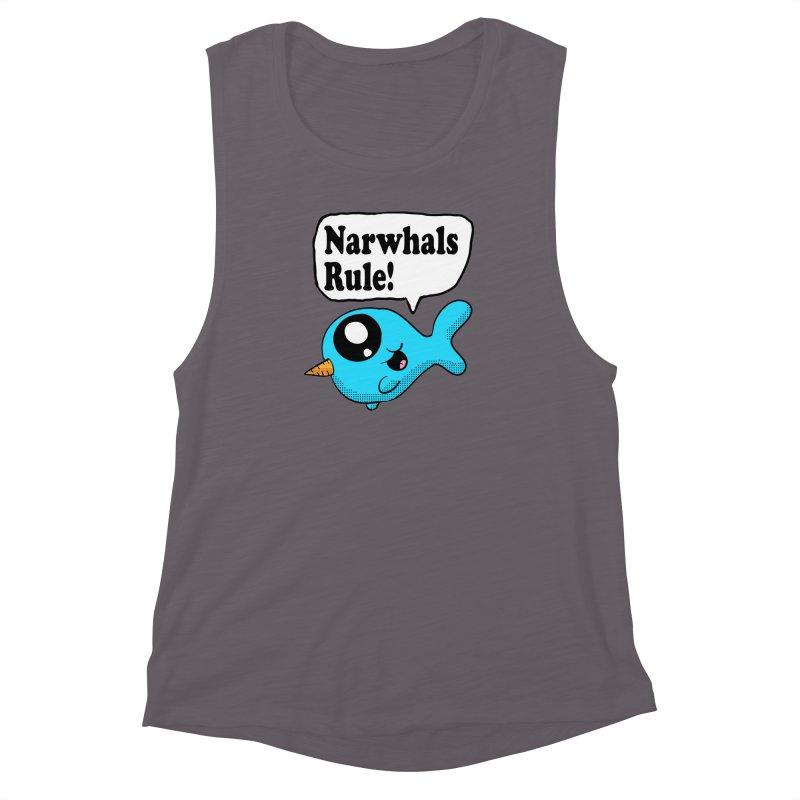 Narwhals Rule Women's Muscle Tank by ericallen's Artist Shop