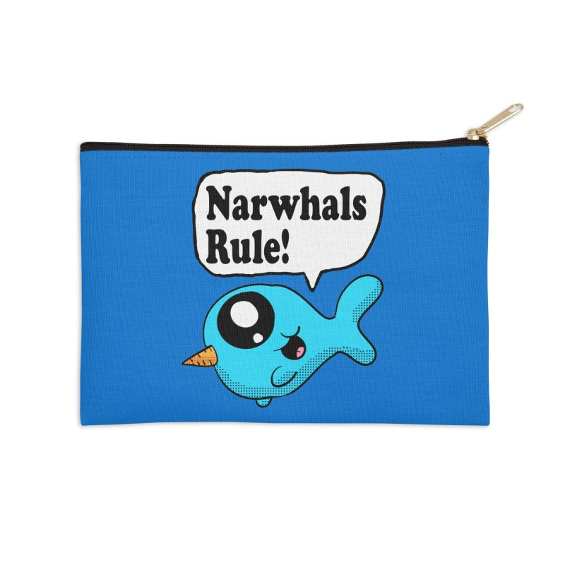 Narwhals Rule Accessories Zip Pouch by ericallen's Artist Shop