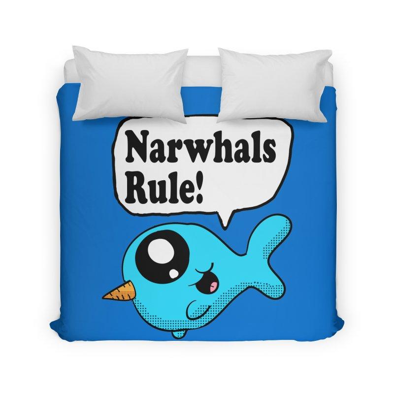 Narwhals Rule Home Duvet by ericallen's Artist Shop