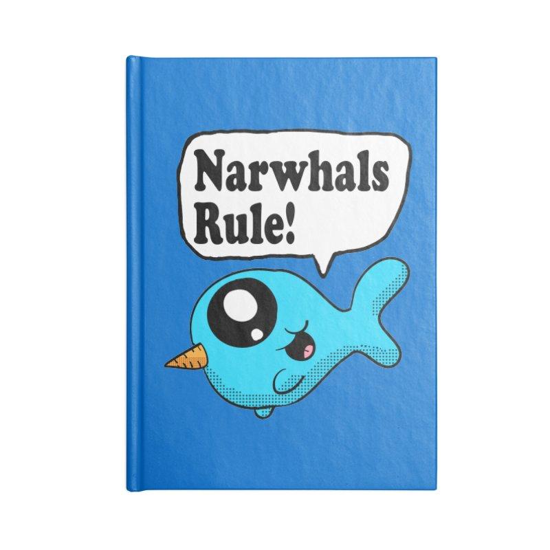 Narwhals Rule Accessories Notebook by ericallen's Artist Shop