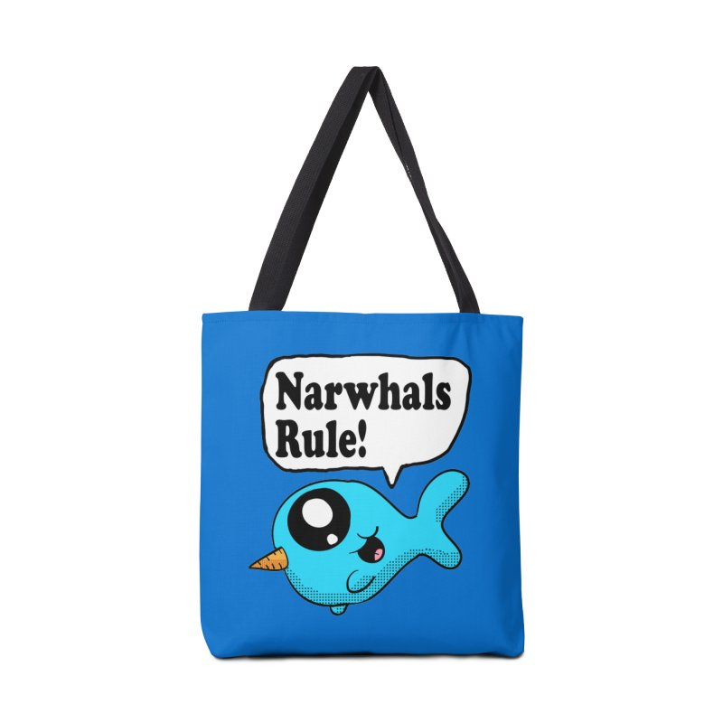 Narwhals Rule Accessories Bag by ericallen's Artist Shop