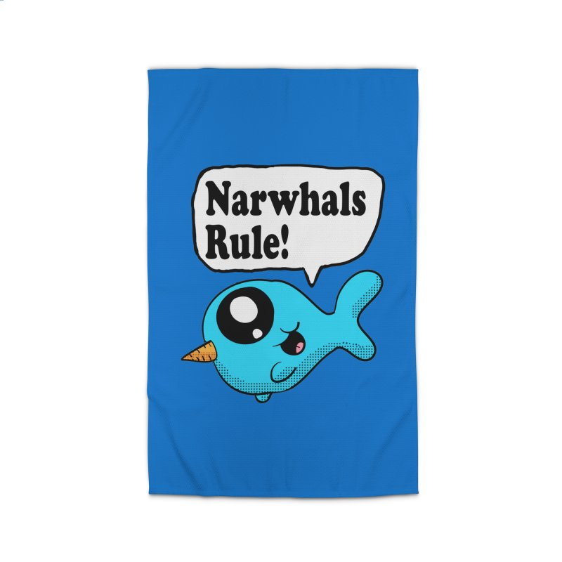 Narwhals Rule Home Rug by ericallen's Artist Shop