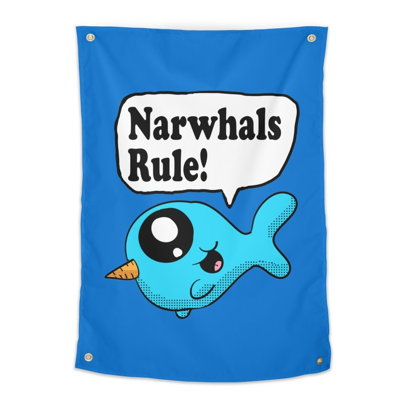 Narwhals Rule Home Tapestry by ericallen's Artist Shop