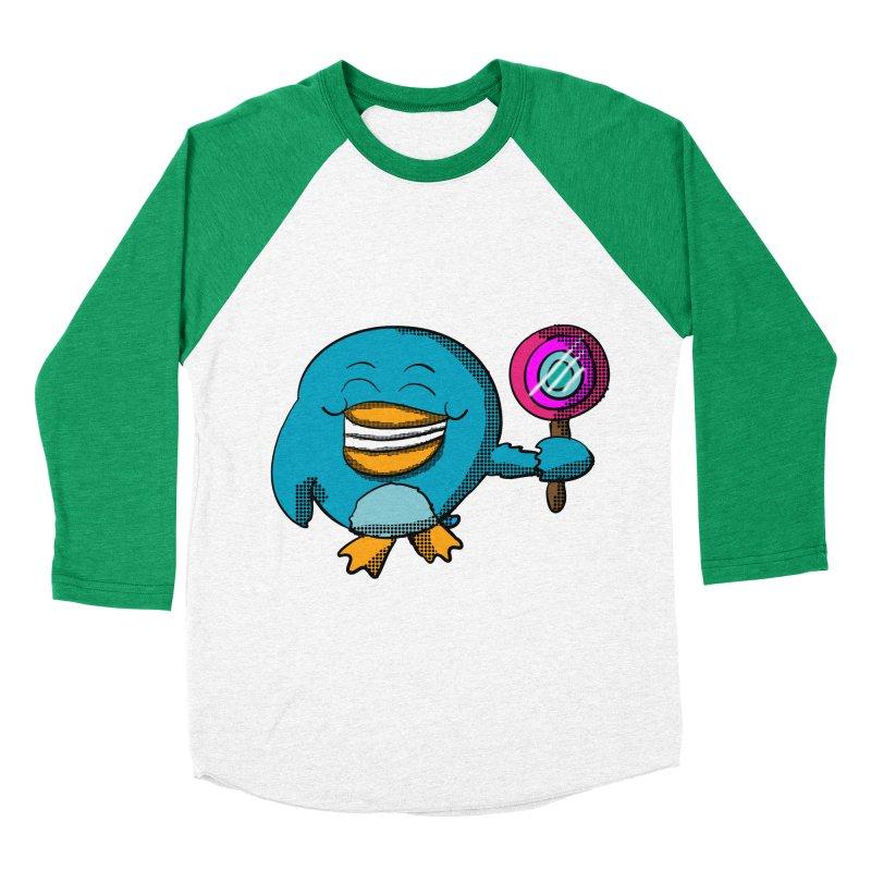 Lollipop Penguin Women's Baseball Triblend T-Shirt by ericallen's Artist Shop