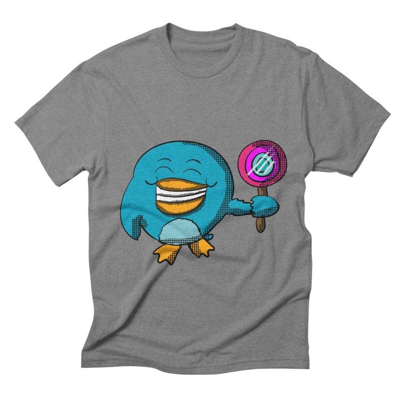 Lollipop Penguin Men's Triblend T-shirt by ericallen's Artist Shop