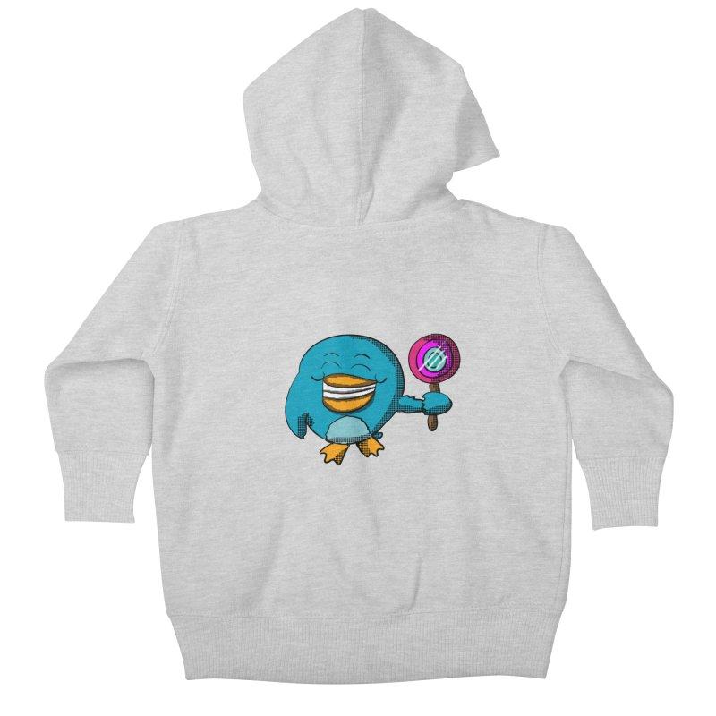 Lollipop Penguin Kids Baby Zip-Up Hoody by ericallen's Artist Shop
