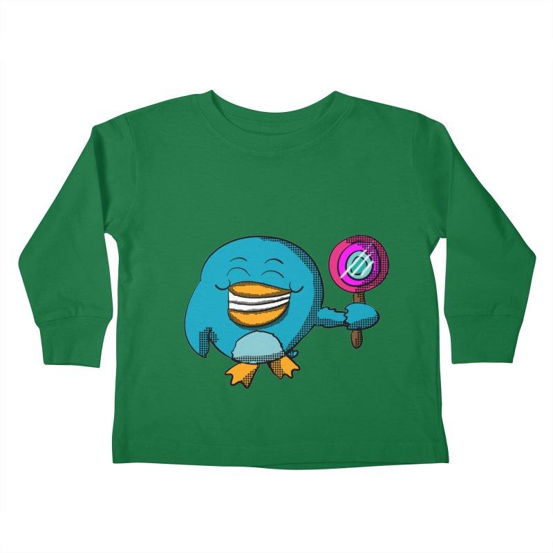 Lollipop Penguin Kids Toddler Longsleeve T-Shirt by ericallen's Artist Shop