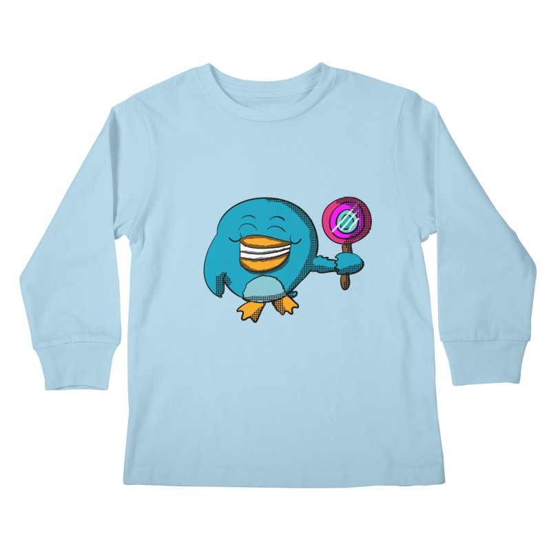 Lollipop Penguin Kids Longsleeve T-Shirt by ericallen's Artist Shop