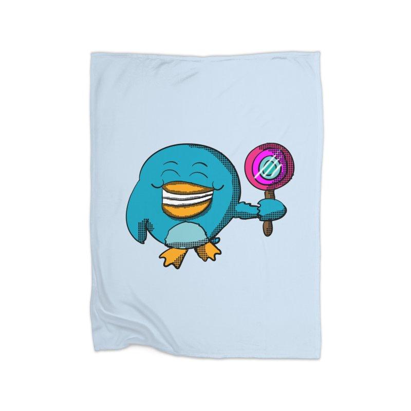 Lollipop Penguin Home Blanket by ericallen's Artist Shop