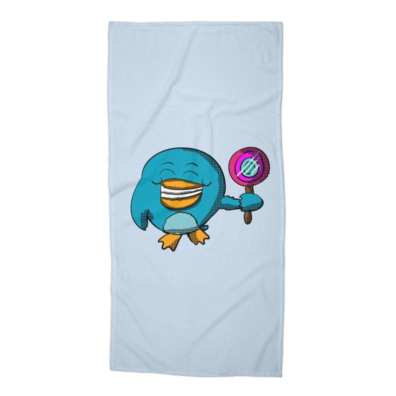 Lollipop Penguin Accessories Beach Towel by ericallen's Artist Shop