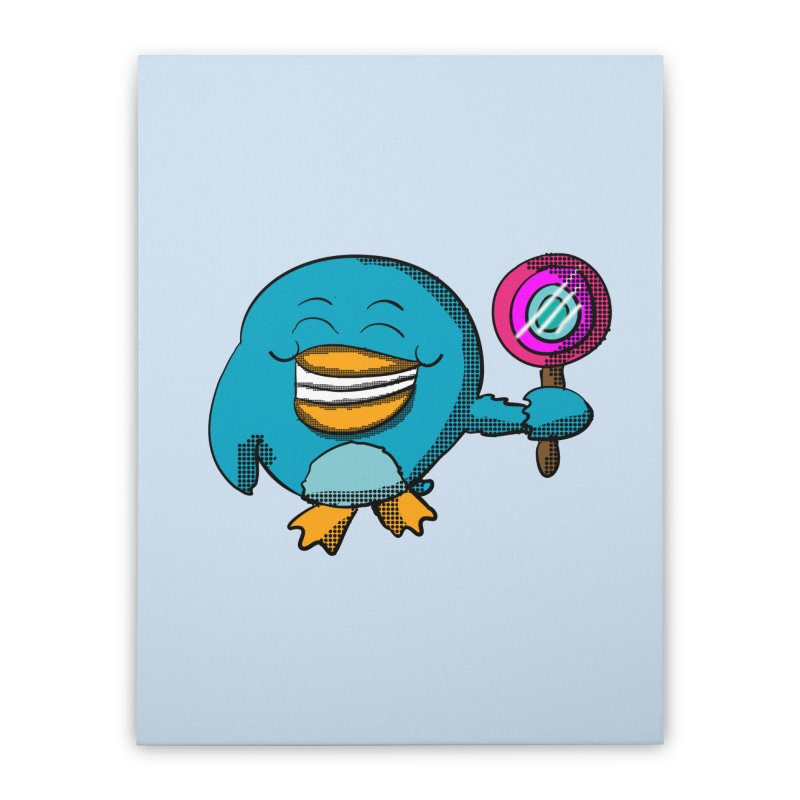 Lollipop Penguin Home Stretched Canvas by ericallen's Artist Shop