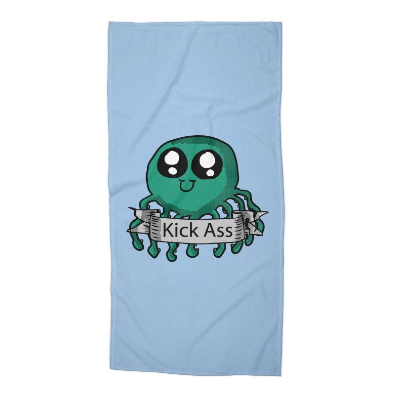Kick Ass Octopus Accessories Beach Towel by ericallen's Artist Shop