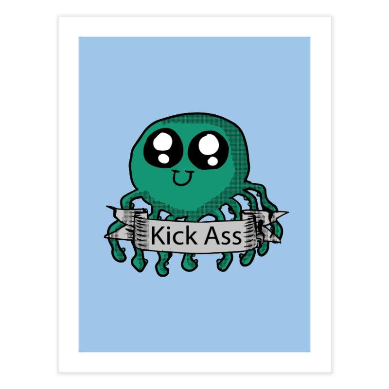 Kick Ass Octopus Home Fine Art Print by ericallen's Artist Shop
