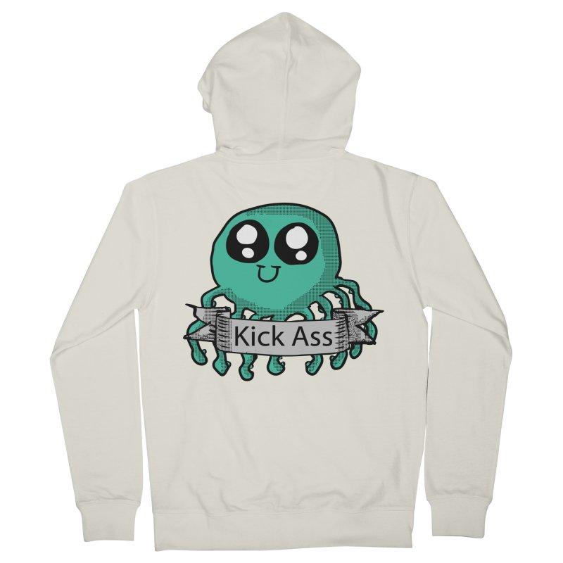 Kick Ass Octopus Men's Zip-Up Hoody by ericallen's Artist Shop