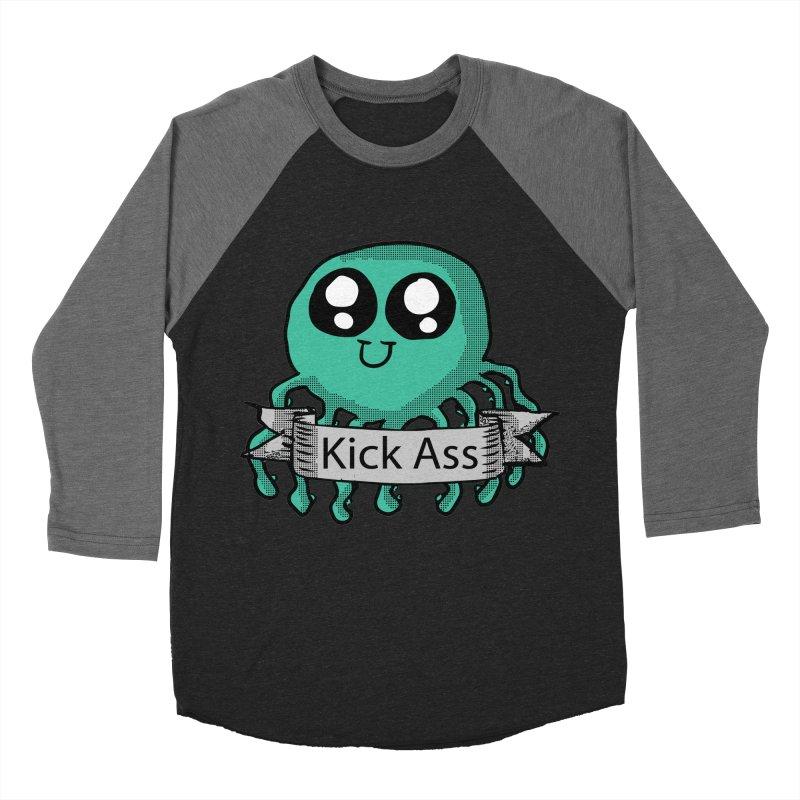 Kick Ass Octopus Women's Baseball Triblend T-Shirt by ericallen's Artist Shop