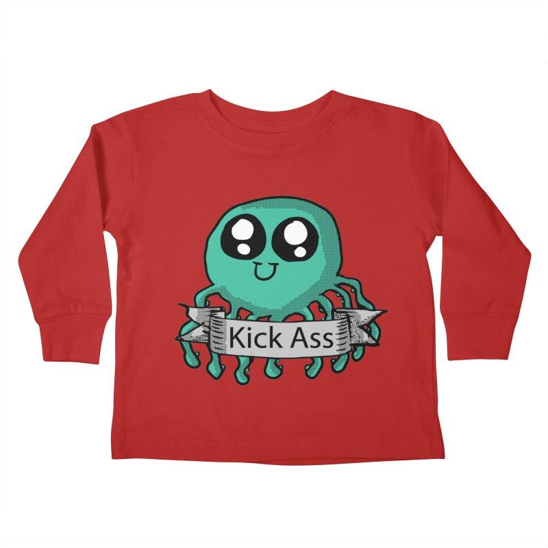 Kick Ass Octopus Kids Toddler Longsleeve T-Shirt by ericallen's Artist Shop