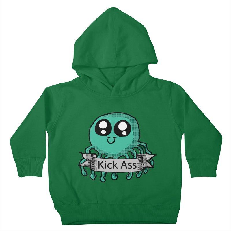 Kick Ass Octopus Kids Toddler Pullover Hoody by ericallen's Artist Shop