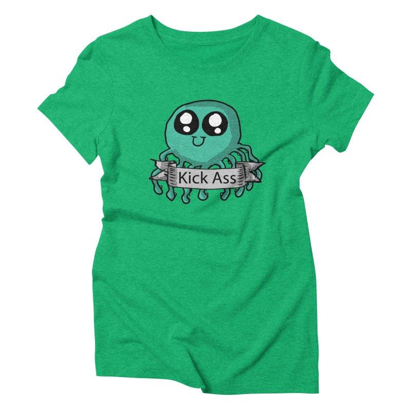 Kick Ass Octopus Women's Triblend T-shirt by ericallen's Artist Shop