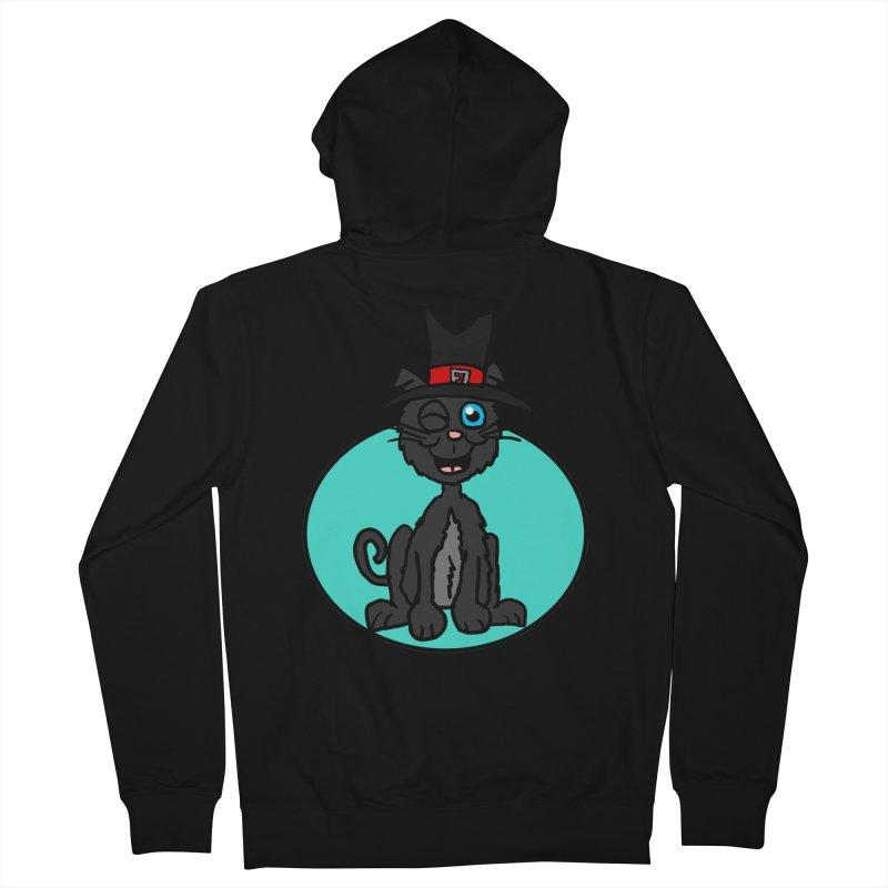 Black Cat Witch Women's Zip-Up Hoody by ericallen's Artist Shop