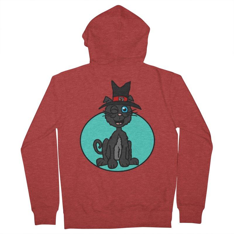 Black Cat Witch Men's Zip-Up Hoody by ericallen's Artist Shop